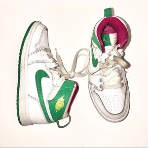 Nike Air Jordan Retro 1 Hi Gamma Green Girls 12.5Y